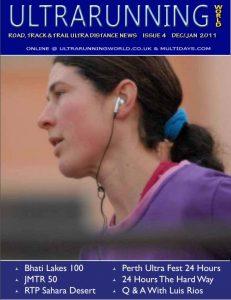 cover of Ultrarunning World magazine december/january 2011