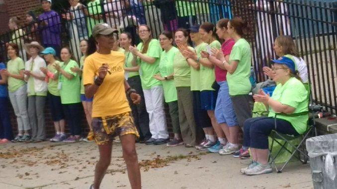 Yolanda Holder at the self-transcendence 3100 mile race 2017