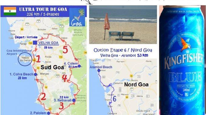 Ultra tour of Goa map