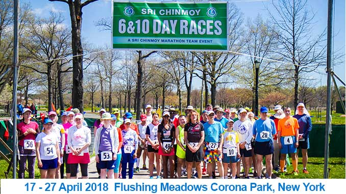 Sri chinmoy 10 & 6 day races 2018